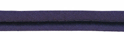 paspelband donkerblauw met 4mm dik koord