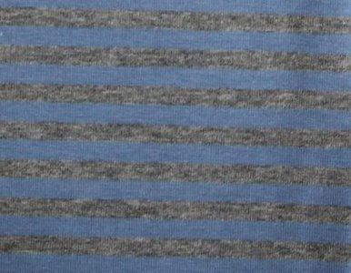 Gitta: strepentricot jeansblauw/grijs gemêleerd 160 breed