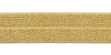 omvouwelastiek 2 cm breed, goud