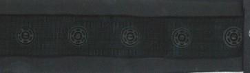 drukkertjesband zwart: afstand 2,5 cm: HALVE meter