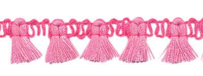 Band met kwastjes roze-lichtroze  15 mm