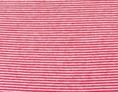 boordstof heel smal streepje, rood-wit