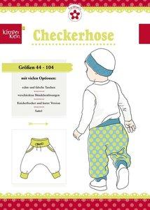 Klimperklein, checkerhose: nonchalant broekje
