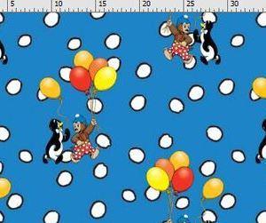Pol,Pel en Pingo op digitaal bedrukte tricot