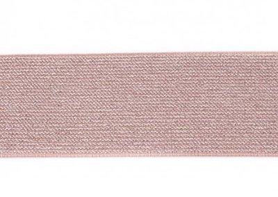 glitter-elastiek 5 cm breed :  /HALVE METER/ taupe
