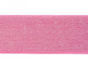 glitter-elastiek 5 cm breed :  /HALVE METER / fuchsia
