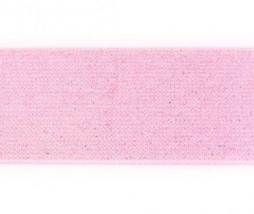 glitter-elastiek 5 cm breed :  /HALVE METER / roze