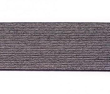 glitter-elastiek 5 cm breed :  /HALVE METER / zwart