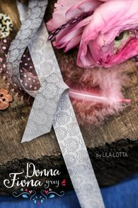 Donna Fiona: sierbandje grijs/lichter grijs
