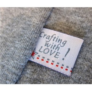 Crafting with LOVE, 4 etiketjes, wit