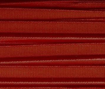 elastisch paspelband, donkerrood met iets bruin
