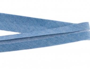 biaisband 20 mm, jeanskleur licht