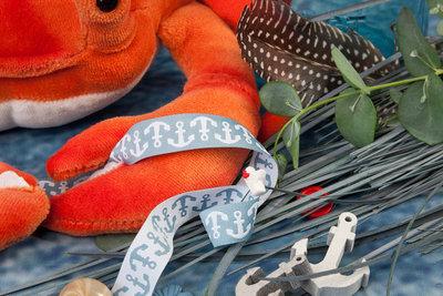 Ankerband grijs-wit uit deOn The Open Sea-serie vanLilaLotta