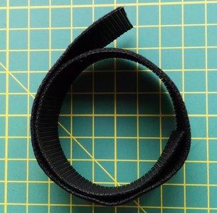 tweezijdig klittenband, ZWART,  2,5 cm breed