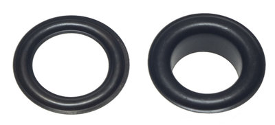 Zeilring/nestel 14 mm zwart staal