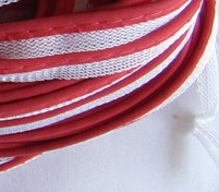 reflecterend paspelband, warm rood