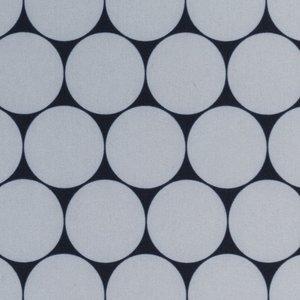 Sheldon: softshell grote rondjes grijs/zwart, winddicht