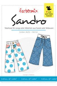 SANDRO, patroon van een speelbroek in de maten 86/92 tot en met 158/164
