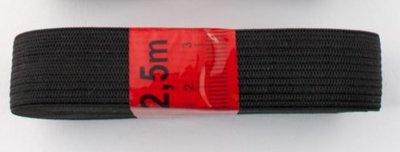 bosje elastiek 2,5 meter zwart /20 mm breed