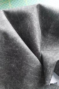 Helsinki: waterdichte stof met jeanslook:taupe-grijs mêlee