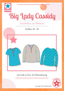 Big Lady Cassidy, blouse voor dames in de maten 46,48,50,52,54,56,58