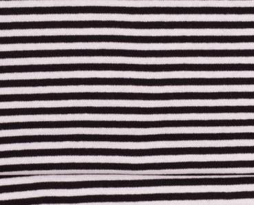 fijne boordstof zwart/witte streep 4 mm