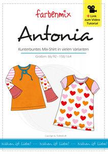 Antonia, patroon van een shirt met variaties voor meisjes