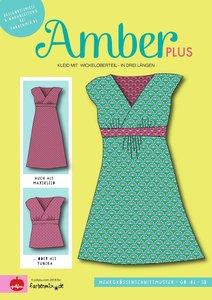 Amber plus: patroon van een overslagjurk naar een ontwerp van Joliyou