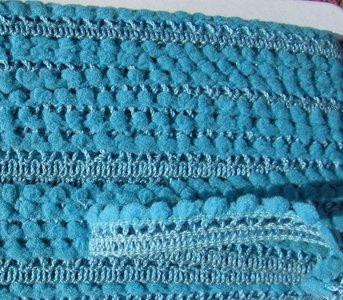 minibolletjesband hemelsblauw/bijna turquoise