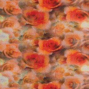 Tim: digitaal bedrukte tricot: allemaal rozen