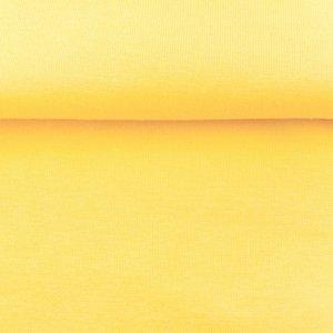 fijne boordstof maisgeel/ 70 cm rondgebreid