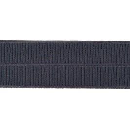 donker grijs: omvouwelastiek 2 cm breed met ribbeltje