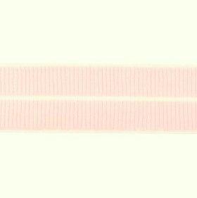 (zalm)roze: omvouwelastiek 2 cm breed met ribbeltje