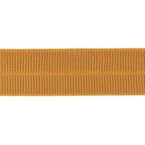 caramel: omvouwelastiek 2 cm breed met ribbeltje
