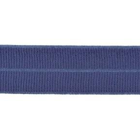 jeansblauw: omvouwelastiek 2 cm breed met ribbeltje