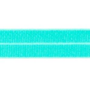 donkermint: omvouwelastiek 2 cm breed met ribbeltje