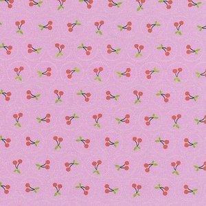 Jana, schattig tricootje roze met kersjes