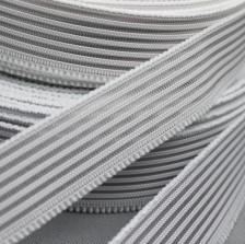 gaaselastiek of rimpelband-elastiek wit 2,5 cm