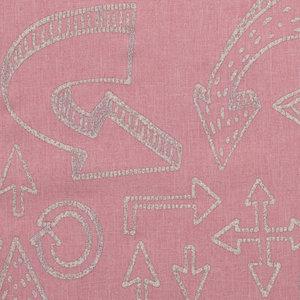 Pondero = reflecterende softshell: pijlen op zacht roze