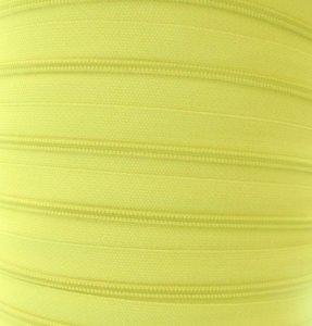 rits aan de meter, citroengeel 4mm