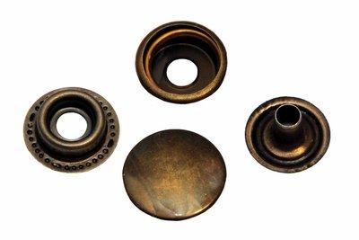10 metalen drukkers brons 15 mm