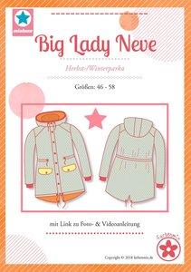 Big Lady Neve, patroon van een parka jas van MiaLuna (introductiekorting)