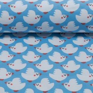 Vera, vogeltjes op hemelsblauw
