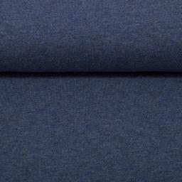 Eike melange: zacht-geruwde wintertricot jeansblauw