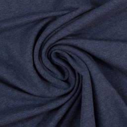 Eike melange: zacht-geruwde sweat-tricot jeansblauw