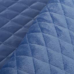 Doorgestikte jassenstof met aan de binnenkant een superzachte pluche: jeanskleur