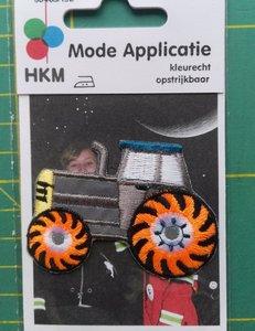 opstrijkbare applicatie:reflecterende button met tractor