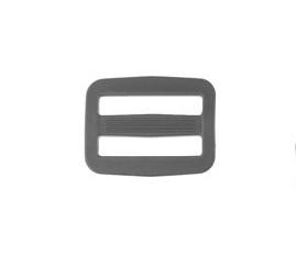 schuifgesp kunststof 25 mm grijs