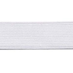 elastiek wit 2,5 cm