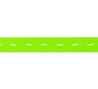 knoopsgatenelastiek limegroen 1,8 cm breed